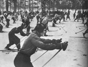 массовое увлечение лыжами