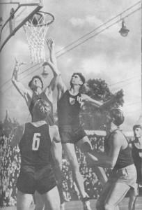 красивая игра баскетболистов