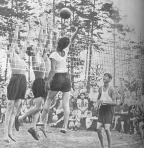 Волейбол любимый спрт нашей молодежи.