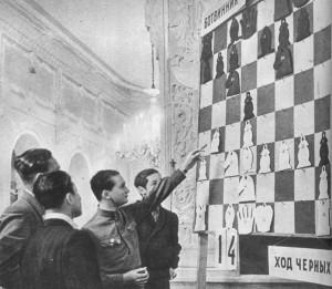 У шахматоной демонстрационной доски