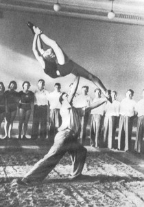 Занятия секции гимнастики