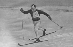 А. Кузнецов из колхоза имени  Тимерязева Горьковской области один из сильнейших лыжников страны