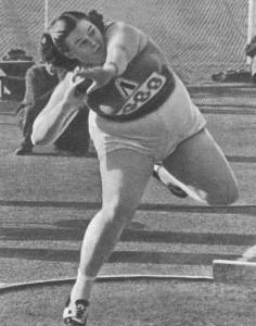 Победительница XVI Олимпийских игр Тамара Тышкевич
