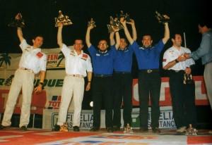 Юбер Ориоль вручает высшие награды «Дакара-96»