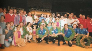 с организаторами и призёрами ралли
