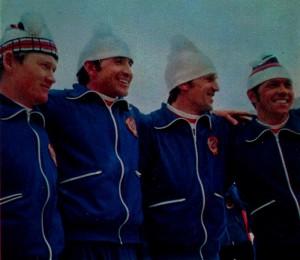 Сборная команда СССР по биатлону— чемпион XII зимних Олимпийских игр в эстафете 4 х 7,5 км.