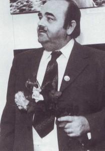 """Президент АИПС г-н Тейлор на первой в СССР международной фотовыставке """"Спорт - посол мира"""" в 1975 г."""