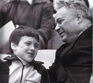 Николай Озеров с сыном Николаем